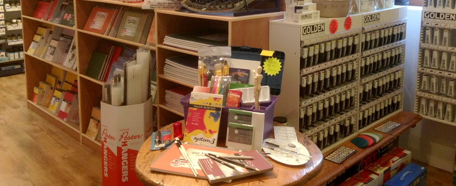 Art supplies at Stable Art Picture Framing