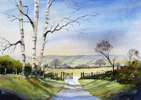 Across the Meadows, landscape painting by Brenda Murphy