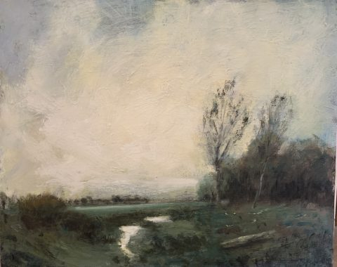 Landscape painting in acrylics workshop by John Rabbetts
