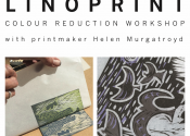 Introduction to Colour Reduction Linocut by Helen Murgatroyd